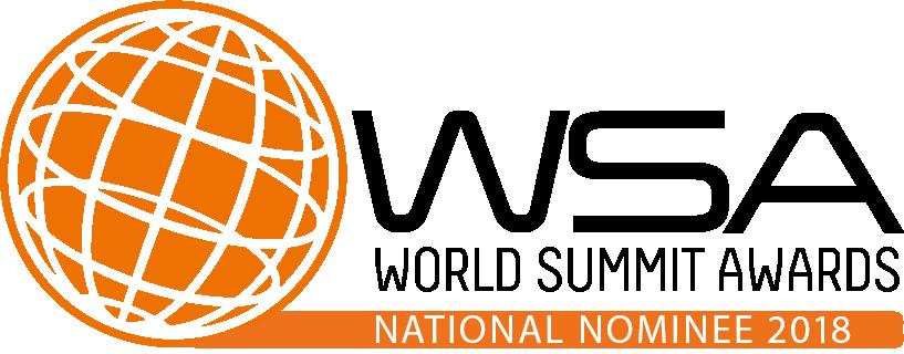 world summit awards nomination badge buengo